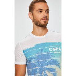 U.S. Polo - T-shirt. Szare koszulki polo męskie U.S. Polo, z nadrukiem, z bawełny. W wyprzedaży za 159.90 zł.