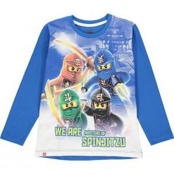 Koszulka w kolorze niebieskim. Zielone t-shirty dla chłopców marki Lego Wear Fashion, z bawełny, z długim rękawem. W wyprzedaży za 42.95 zł.