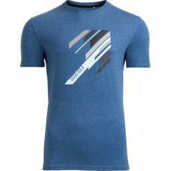 T-shirt męski TSM613 - granatowy melanż - Outhorn. Niebieskie t-shirty męskie Outhorn, na lato, melanż, z bawełny. W wyprzedaży za 29.99 zł.