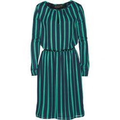 Sukienka z nadrukiem bonprix ciemnoniebiesko-szmaragdowy w paski. Niebieskie sukienki damskie bonprix, z nadrukiem. Za 119.99 zł.