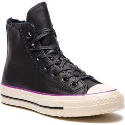 Czarne obuwie damskie Converse, na płaskiej podeszwie, bez