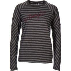 """Koszulka """"Haystack"""" w kolorze antracytowym. Szare bluzki damskie Maloja, z haftami, z okrągłym kołnierzem, z długim rękawem. W wyprzedaży za 108.95 zł."""