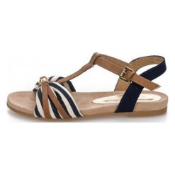 Tom Tailor Sandały Damskie 36 Ciemny Niebieski. Niebieskie sandały damskie Tom Tailor, w paski. W wyprzedaży za 159.00 zł.