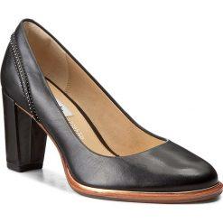 Półbuty CLARKS - Ellis Edith 261291694 Black Leather. Czarne półbuty damskie Clarks, ze skóry. W wyprzedaży za 299.00 zł.