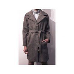 Wełniany płaszcz CLASSY BROWN. Brązowe płaszcze damskie True color by ann, jodełka, z wełny, klasyczne. Za 1,290.00 zł.