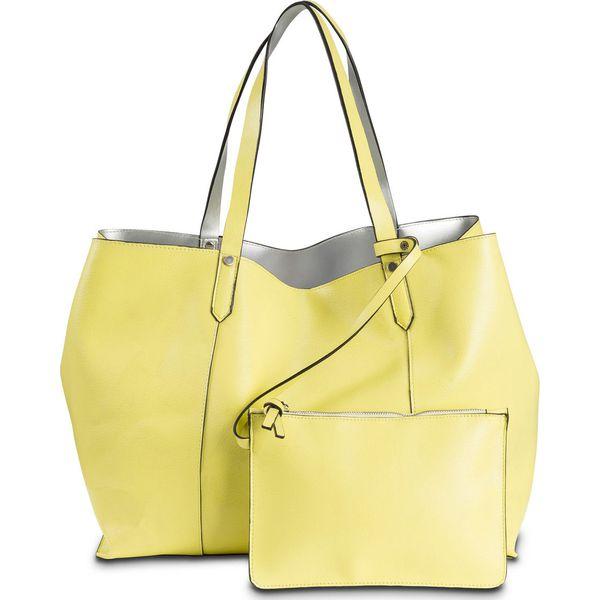 38618fb367f62 Torba shopper dwustronna bonprix jasna limonka - srebrny kolor ...