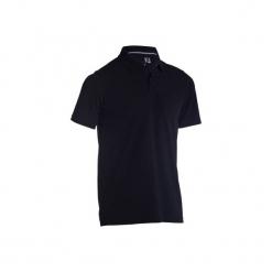 Koszulka polo do golfa 500 męska. Czarne koszulki polo męskie INESIS, z bawełny. Za 39.99 zł.