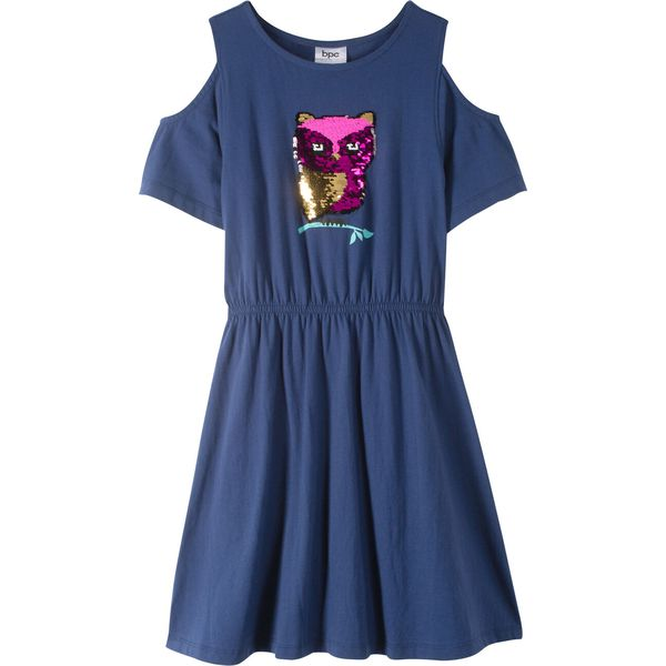 947ee570d6 Sukienka z wycięciami na ramionach i obracanymi cekinami bonprix ...