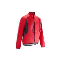 Kurtka przeciwdeszczowa na rower szosowy ROADCYCLING 500 męska. Czerwone kurtki męskie B'TWIN. Za 129.99 zł.