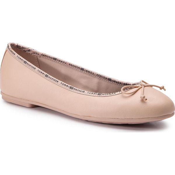 c80afd4ea3145 Baleriny TOMMY HILFIGER - Leather Ballerina Tommy Branding ...