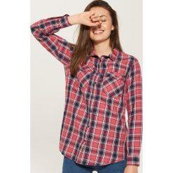 Koszula w kratę - Różowy. Czerwone koszule damskie House. W wyprzedaży za 39.99 zł.
