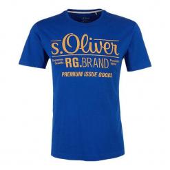 S.Oliver T-Shirt Męski L Niebieski. Niebieskie t-shirty męskie S.Oliver, z nadrukiem. Za 39.90 zł.
