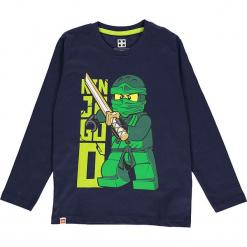 Koszulka w kolorze granatowym. Zielone t-shirty dla chłopców marki Lego Wear Fashion, z bawełny, z długim rękawem. W wyprzedaży za 35.95 zł.