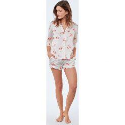 Etam - Koszula piżamowa Flamingo. Szare koszule nocne damskie Etam, z materiału. W wyprzedaży za 89.90 zł.