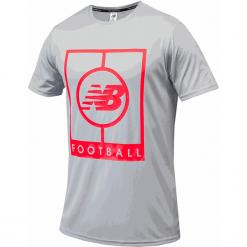 Koszulka treningowa MT833017LCL. Szare koszulki sportowe męskie New Balance, z materiału. Za 129.99 zł.