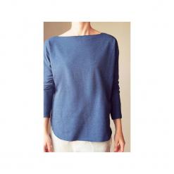 Lekka bluza kimonocięta jeans. Niebieskie bluzy damskie One mug a day, z bawełny. Za 169.00 zł.