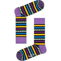 Happy Socks - Skarpety Stripes. Szare skarpety męskie Happy Socks, z bawełny. W wyprzedaży za 27.90 zł.