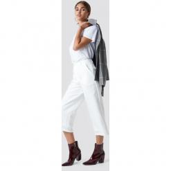 NA-KD Szerokie spodnie - White,Offwhite. Białe spodnie materiałowe damskie NA-KD. Za 121.95 zł.