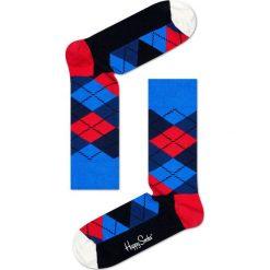 Happy Socks - Skarpety Argyle. Niebieskie skarpety męskie Happy Socks, z bawełny. W wyprzedaży za 29.90 zł.