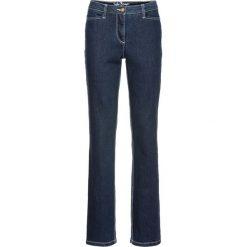 """Dżinsy """"authentik-stretch"""", modelujące sylwetkę STRAIGHT bonprix ciemnoniebieski. Jeansy damskie marki bonprix. Za 109.99 zł."""