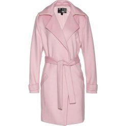 Płaszcz trencz Premium z materiału z domieszką wełny bonprix matowy jasnoróżowy. Czerwone płaszcze damskie bonprix, z wełny. Za 269.99 zł.