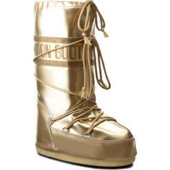 Śniegowce MOON BOOT - Vinile Met. 14021400003 Oro D. Żółte kozaki damskie Moon Boot, ze skóry ekologicznej. Za 479.00 zł.