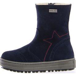 """Skórzane kozaki zimowe """"Miro"""" w kolorze granatowym. Buty zimowe dziewczęce Zimowe obuwie dla dzieci. W wyprzedaży za 252.95 zł."""