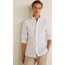 Mango Man - Koszula Quike. Szare koszule męskie Mango Man, z bawełny, button down, z długim rękawem. Za 199.90 zł.