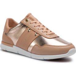 12eac4af0b7cc Sneakersy TOMMY HILFIGER - Tommy Essential Leather Sneaker FW0FW03688 Peach  Rose 653. Półbuty damskie marki