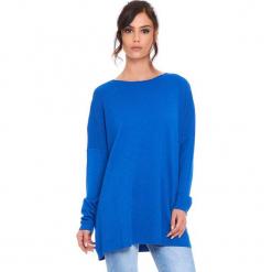 """Sweter """"Odile"""" w kolorze niebieskim. Niebieskie swetry damskie Cosy Winter, z okrągłym kołnierzem. W wyprzedaży za 181.95 zł."""
