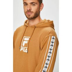 Fila - Bluza. Pomarańczowe bluzy męskie Fila, z nadrukiem, z bawełny. W wyprzedaży za 299.90 zł.