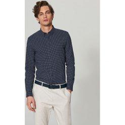 Koszula we wzory super slim fit - Granatowy. Niebieskie koszule męskie Reserved. Za 99.99 zł.