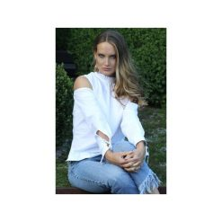 Damska koszula GIOVANNA. Białe koszule damskie Martino demi, z bawełny, eleganckie, z falbankami. Za 279.65 zł.