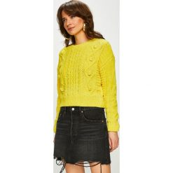 Tally Weijl - Sweter. Żółte swetry damskie TALLY WEIJL, z dzianiny, z okrągłym kołnierzem. Za 129.90 zł.