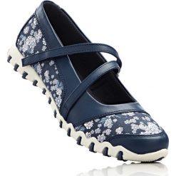 Baleriny bonprix niebieski w kwiaty. Niebieskie baleriny damskie bonprix, w kwiaty. Za 74.99 zł.
