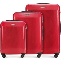 Zestaw walizek 56-3P-97S-30. Czerwone walizki damskie Wittchen, z gumy. Za 555.21 zł.