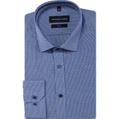 Koszula SIMONE slim KDNS000453. Niebieskie koszule męskie Giacomo Conti, z bawełny, z włoskim kołnierzykiem. Za 149.00 zł.