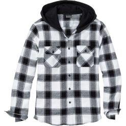 Koszula flanelowa z kapturem Slim Fit bonprix czarno-biały w kratę. Koszule męskie marki Giacomo Conti. Za 89.99 zł.