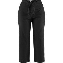 """Spodnie 3/4 """"papertouch"""" bonprix czarny. Spodnie materiałowe damskie marki DOMYOS. Za 74.99 zł."""