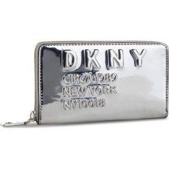 Duży Portfel Damski DKNY - 10017 Md Zip Around R832Y636 Silver SIL. Szare portfele damskie DKNY, ze skóry ekologicznej. Za 419.00 zł.