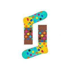 Skarpetki Happy Socks - Big Dot Block (BDB01-8000). Szare skarpety męskie Happy Socks, w kolorowe wzory, z bawełny. Za 34.90 zł.
