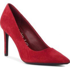 Szpilki CALVIN KLEIN - Roxy E7804 Red Rock. Czerwone szpilki damskie Calvin Klein, z materiału. Za 619.00 zł.
