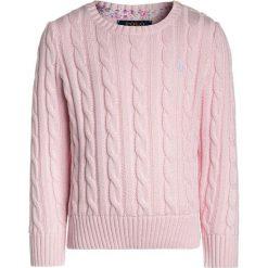 Polo Ralph Lauren CABLE  Sweter hint of pink. Swetry dla dziewczynek Polo Ralph Lauren, z bawełny, polo. Za 359.00 zł.