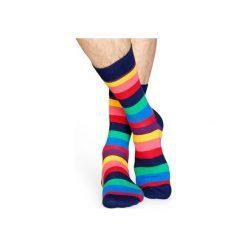 Skarpetki Happy Socks - Stripes (STR01-6001). Szare skarpety męskie Happy Socks, z bawełny. Za 34.90 zł.