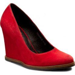 Półbuty SIMEN - 0019 K.W.Rosso. Czerwone półbuty damskie Simen, ze skóry. W wyprzedaży za 199.00 zł.