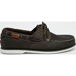 Wrangler - Mokasyny Ocean Leather. Czarne mokasyny męskie Wrangler, z gumy. W wyprzedaży za 269.90 zł.