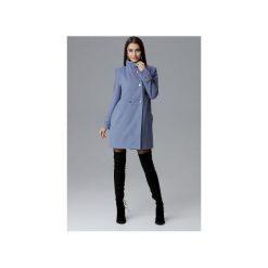 Płaszcz M623 Niebieski. Niebieskie płaszcze damskie Figl, eleganckie. Za 299.00 zł.