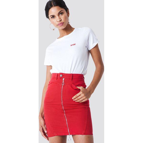 76b7568d NA-KD Spódnica ołówkowa z zamkiem - Red