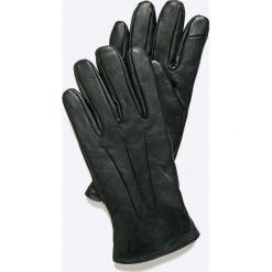 Jack & Jones - Rękawiczki skórzane. Czarne rękawiczki męskie Jack & Jones, z materiału. W wyprzedaży za 119.90 zł.
