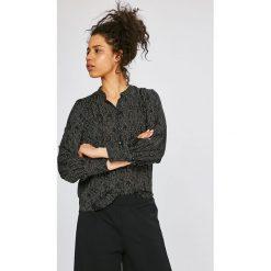 Vero Moda - Koszula Cate. Szare koszule damskie Vero Moda, z poliesteru, casualowe, ze stójką, z długim rękawem. W wyprzedaży za 79.90 zł.
